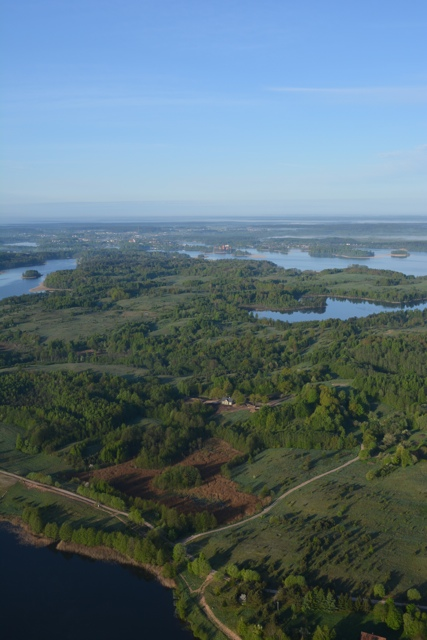 floating over Lithuania in a hot air balloon - Hot Air Ballooning For the First Time