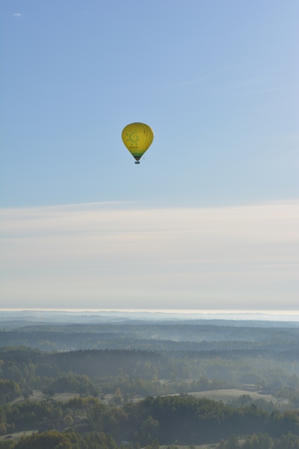 soaring over Lithuania in a hot air balloon - Hot Air Ballooning For the First Time