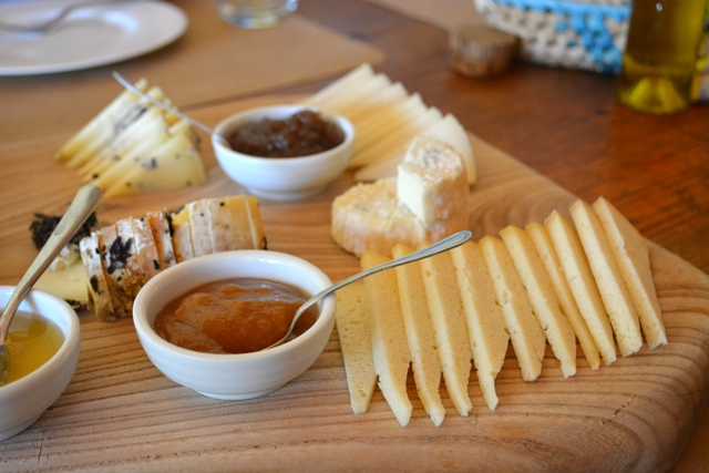 various cheeses served for lunch at Podere Il Casale - A Day Trip to Tuscany with Walks of Italy