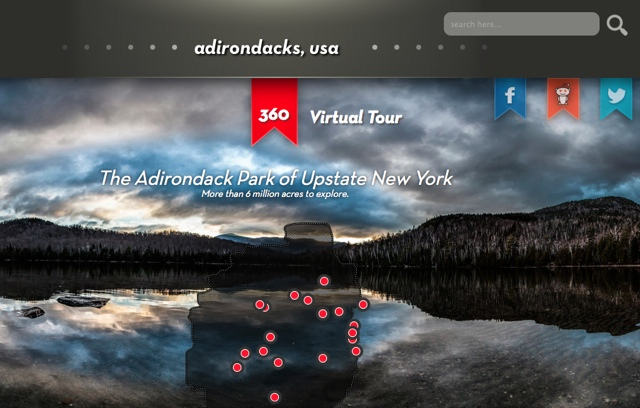 Adirondacks USA 360 virtual tour website - Things to know before you go