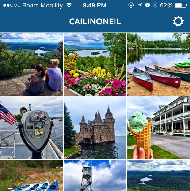 Cailin Adirondack Instagrams screen shot - The Best Instagrams of the Adirondacks and Thousand Islands #EatPlayLoveNY