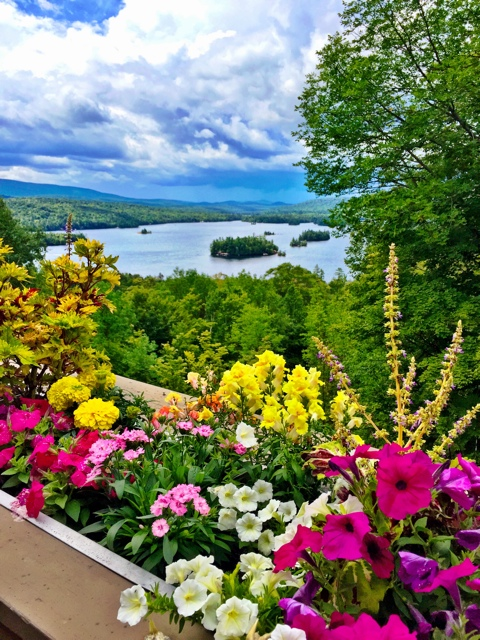 The view of Blue Mountain Lake from the Adirondack Museum - Adirondack Facts - Things to know before you go