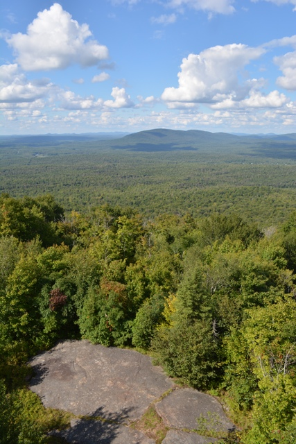 the view from the fire watch tower on the top of Mt Arab in the Adirondacks - Adirondack Facts - Things to know before you go