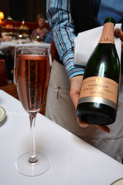Pink Champagne Forget - Brimont Brut rosé - Afternoon Tea at Belfast's Merchant Hotel