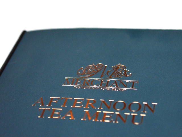 The Merchant Hotel Afternoon Tea menu - Afternoon Tea at Belfast's Merchant Hotel