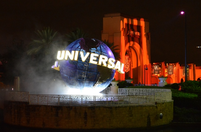 The Universal Globe at Universal Orlando Resorts for Halloween Horror Nights 2015 - Halloween Horror Nights at Universal Orlando Resorts