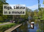 riga latvia boats on the canal