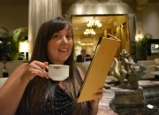 Cailin enjoying afternoon tea at the Palm Court Drake Hotel in Chicago - Afternoon Tea at The Drake Hotel in Chicago