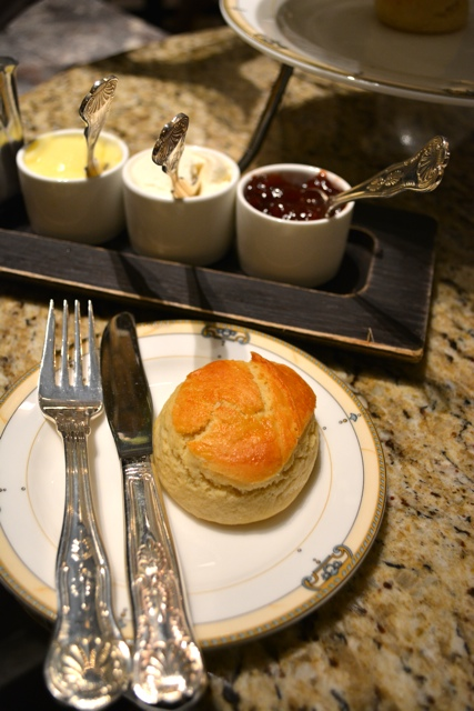 scones, clotted cream, jam and lemon custard at the Palm Court afternoon tea - Afternoon Tea at The Drake Hotel in Chicago
