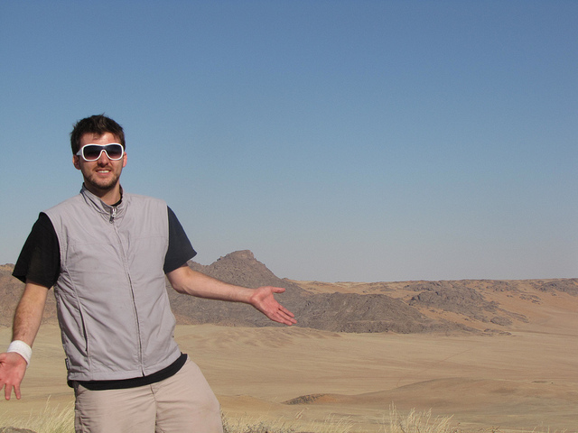 Guy wearing Scottevest - image by flicker user Whatleydude - The Worst Gifts for People who Love to Travel.jpg
