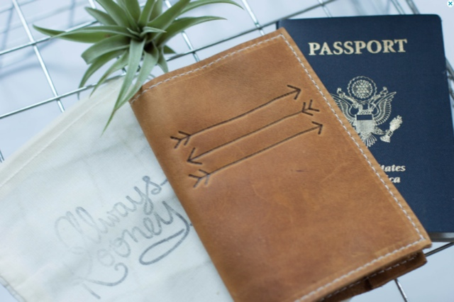 Passport cover & image by the Earhart on Etsy - The Worst Gifts for People who Love to Travel
