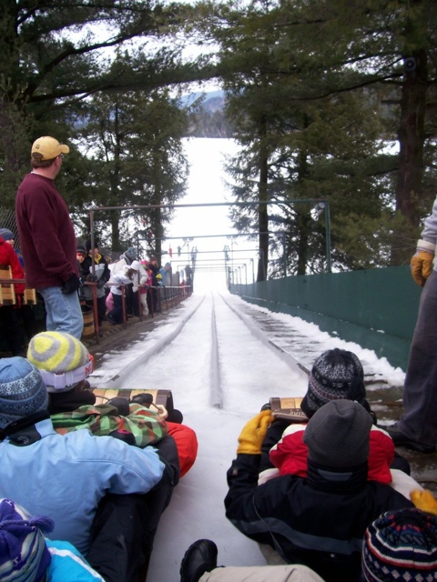Toboggan Chute - My Perfect Day in Lake Placid, NY