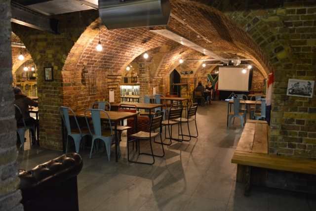 downstairs wombar and lounge area - Wombat's City Hostel London Review #Video