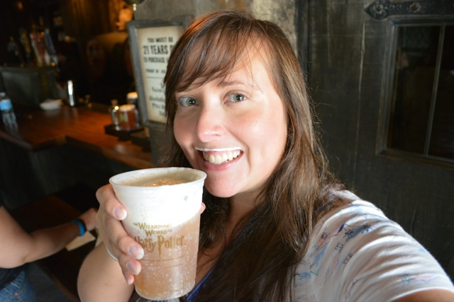 slushy butter beer in Hogsmeade at the Hogshead Pub - Universal Orlando Resort VIP Tour Highlights