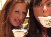 Candice and Cailin enjoying afternoon tea - Afternoon Tea at The Ritz-Carlton, Berlin