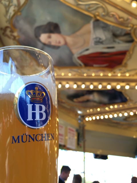 Hefeweizen beer and the pretty beer merry go round - Best Tips for Celebrating Oktoberfest in Munich