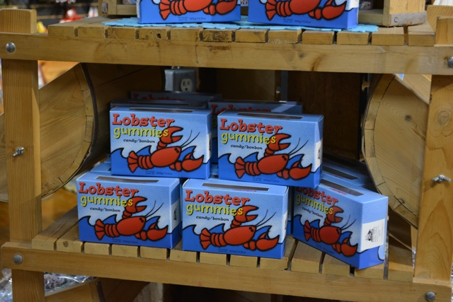 lobster candy and gummies at the gift shop in the fisheries museum of the atlantic - Lunenburg, Nova Scotia Best Things to See and Do