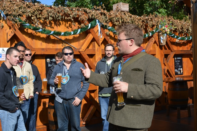 our tour guide Austin gives us the history of Oktoberfest - Best Tips for Celebrating Oktoberfest in Munich