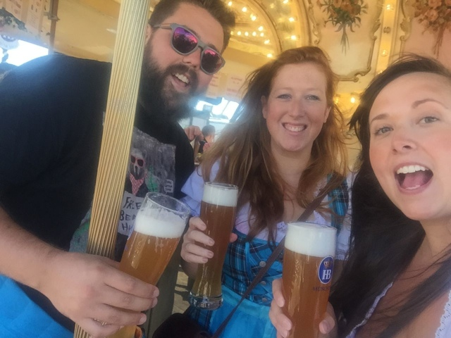 spinning around on the beer merry go round at oktoberfest - Best Tips for Celebrating Oktoberfest in Munich