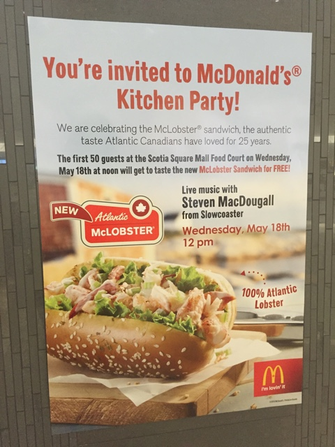 McLobster Kitchen Party at McDonald's Scotia Square - What is the McDonald's McLobster?