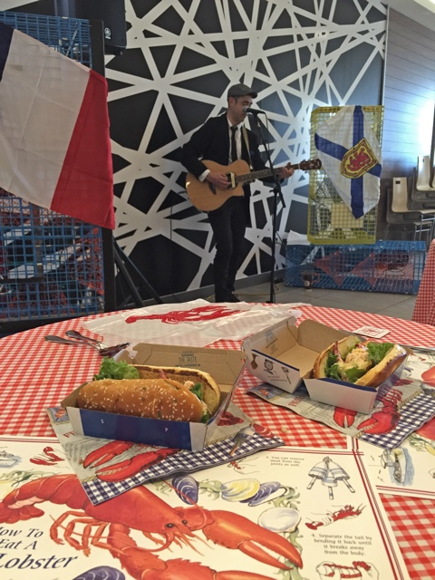 Stephen MacDougall of Slow Coaster performs at the McLobster McDonald's kitchen party - What is the McDonald's McLobster?