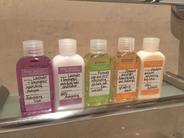 feel good formulas bathroom toiletries - Cheval Gloucester Park Luxury Apartments London