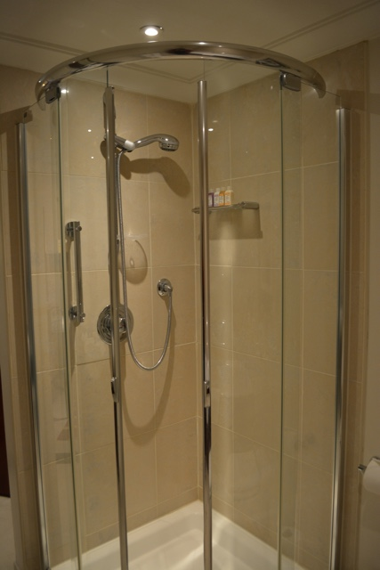 modern stand up shower - Cheval Gloucester Park Luxury Apartments London