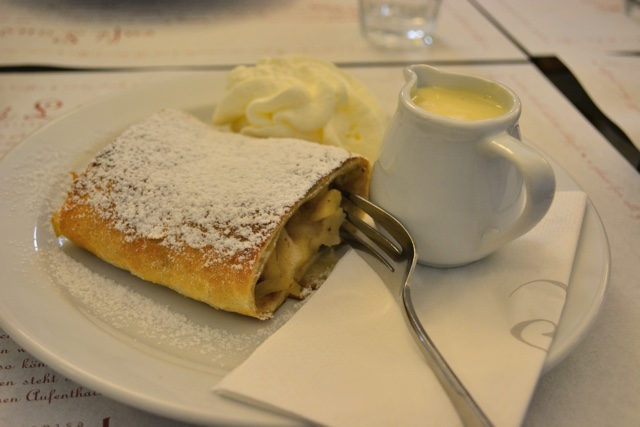 traditional prague warm apple struddle at cafe louvre - A Delicious Food Tour in Prague with Eating Europe