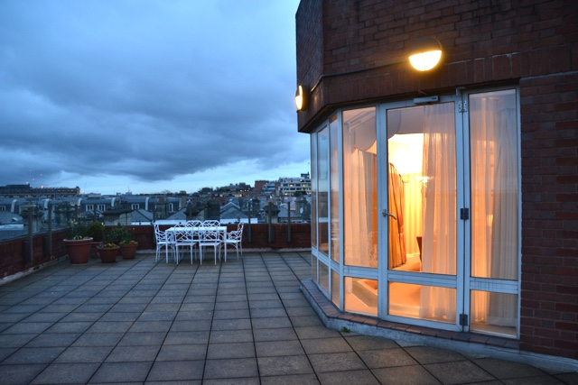 Penthouse Patio at Cheval Thorney Court Apartments - Thorney Court Luxury Apartments Near Kensington Palace
