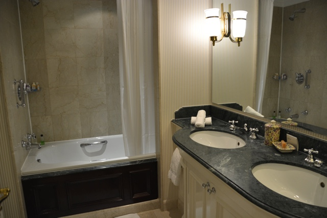 master bathroom double sinks and bidet in penthouse suite - Thorney Court Luxury Apartments Near Kensington Palace