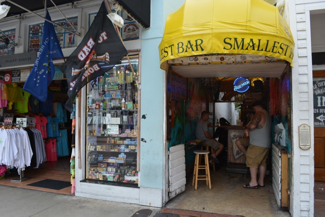the world's smallest bar and tourist souvenirs in key west - The Best Things to do in the Florida Keys