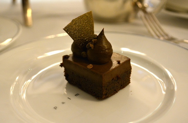 dark chocolate financier - Afternoon Tea at the Balmoral hotel in Edinburgh, Scotland