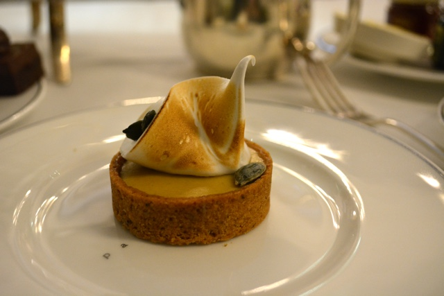 pumpkin merengue tart - Afternoon Tea at the Balmoral hotel in Edinburgh, Scotland