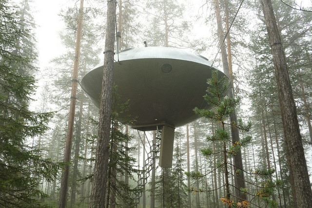 ufo hotel room at the treehotel in sweden image by flickr user Nicolas Boullosa - My top 5 Dream Destinations