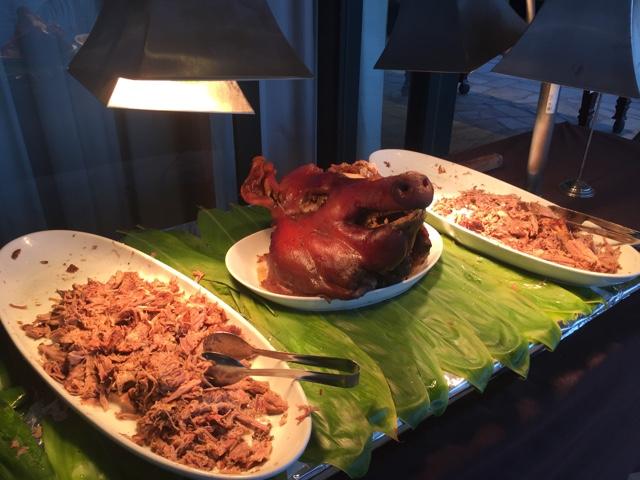 kalua pork pig at the royal hawaiian luau buffet - Touring Oahu, Hawaii in a Minute
