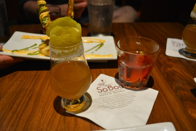sazerac and brandy crusta Drinks at Sobou - Review of the Doctor Gumbo Food Tours in New Orleans