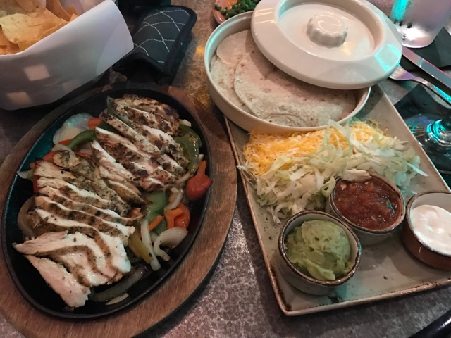 chicken fajitas at Anotjitos authentic mexican food at Universal Orlando's City Walk - Universal Orlando's Best Theme Park Foods