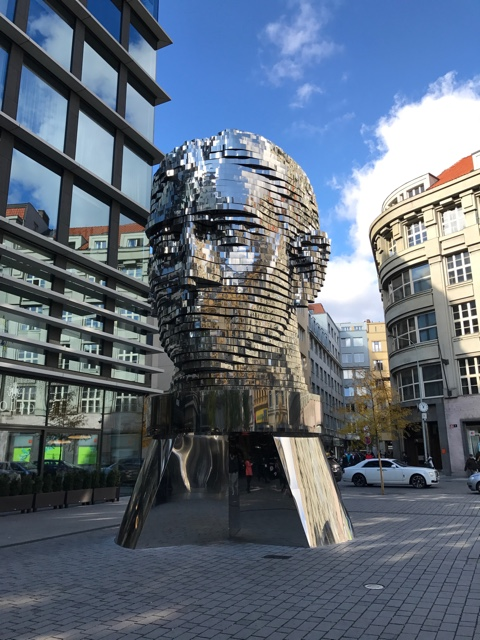 David Cerny artwork in Prague, head of Franz Kafka - How to Enjoy Prague Like a Local