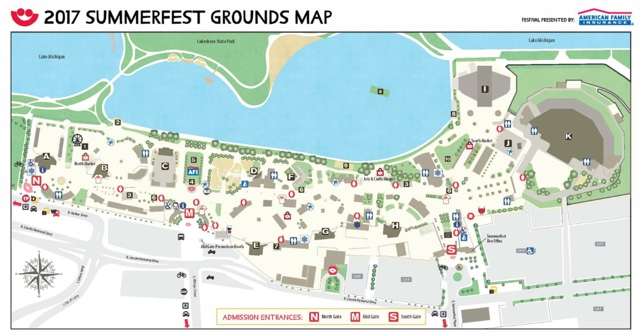 Summerfest venue map 2017 - First-Timers Guide for Summerfest in Milwaukee