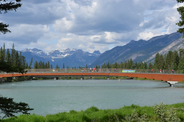 bow river pedestrian bridge - Best Tips for Visiting Banff, Alberta in one day