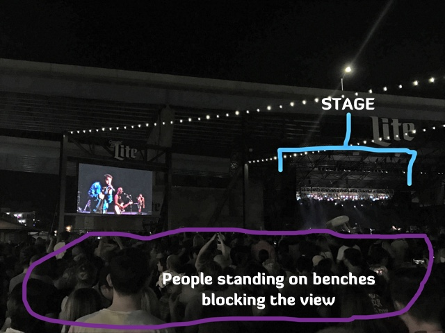 people standing on benches at Summerfest - First-Timers Guide for Summerfest in Milwaukee