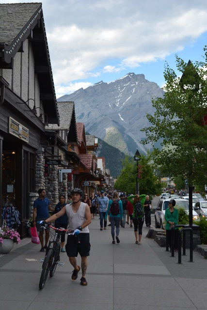 walking down the main street of Banff ave in downtown banff - Best Tips for Visiting Banff, Alberta in one day