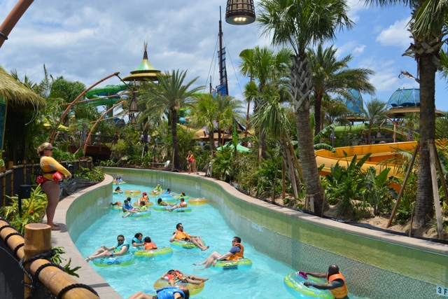 enjoying a relaxing and leisurely ride on the Kopiko Wai Winding River lazy river - Kopiko Wai Winding River - Ultimate Guide to Relaxing at Universal's Volcano Bay