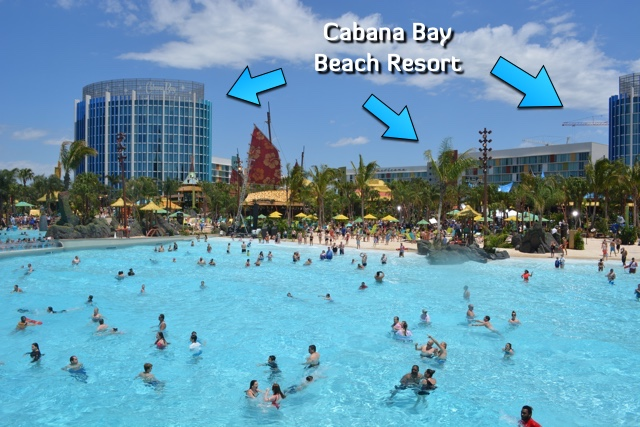 the universal orlando resort Cabana Bay Beach resort overlooking Volcano Bay - Ultimate Guide to Relaxing at Universal's Volcano Bay