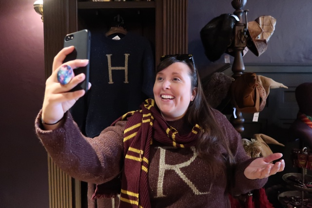 Ron and Harry Potter itchy christmas sweaters made by Mrs Weasley for sale at UNiversal Orlando - Best Tips for Celebrating the Holidays at Universal Orlando