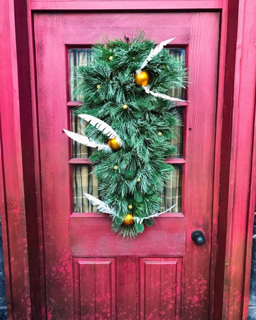 quidditch shop christmas decorations golden snitch hogsmeade - Best Tips for Celebrating the Holidays at Universal Orlando