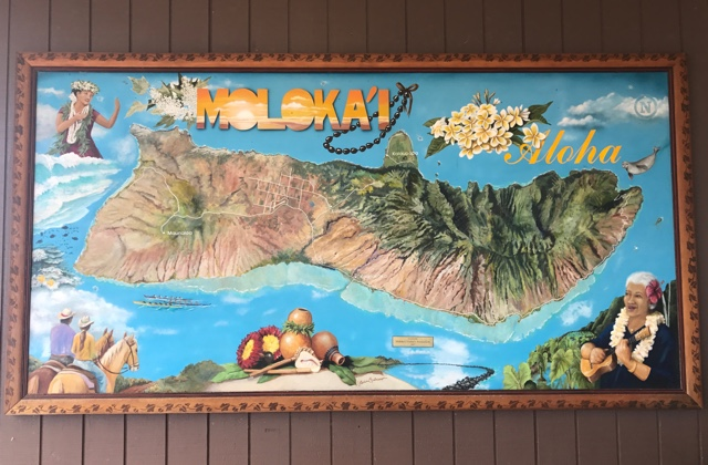 a map of molokai at the airport - Best Tips for Visiting Molokai, Hawaii