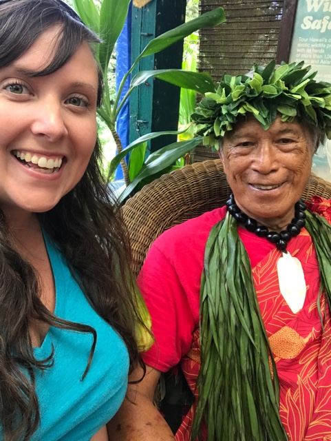cailin meeting anakala pilipo in the halawa valley - Best Tips for Visiting Molokai, Hawaii