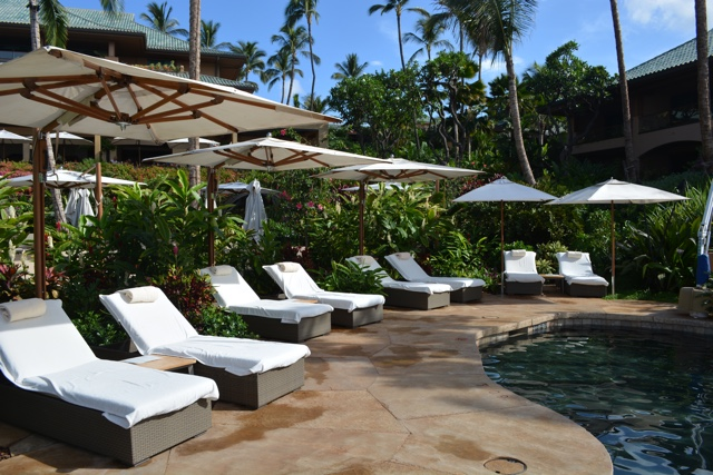 many available sunchairs at the retreat pool adults only - Four Seasons Resort Lanai in Hawaii Review