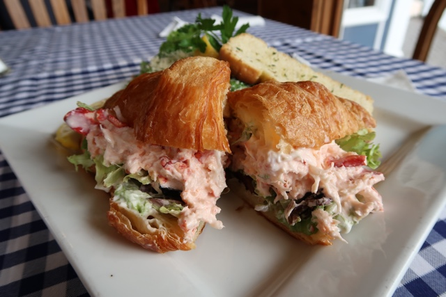 the fo'c'sle tavern's lobster croissant in Chester, Nova Scotia